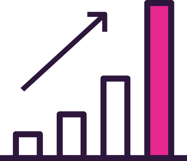 image of bar chart with increase arrow representing roar seo bomb